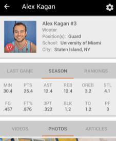 Player & Team Stats App Analytics Big Sports Data