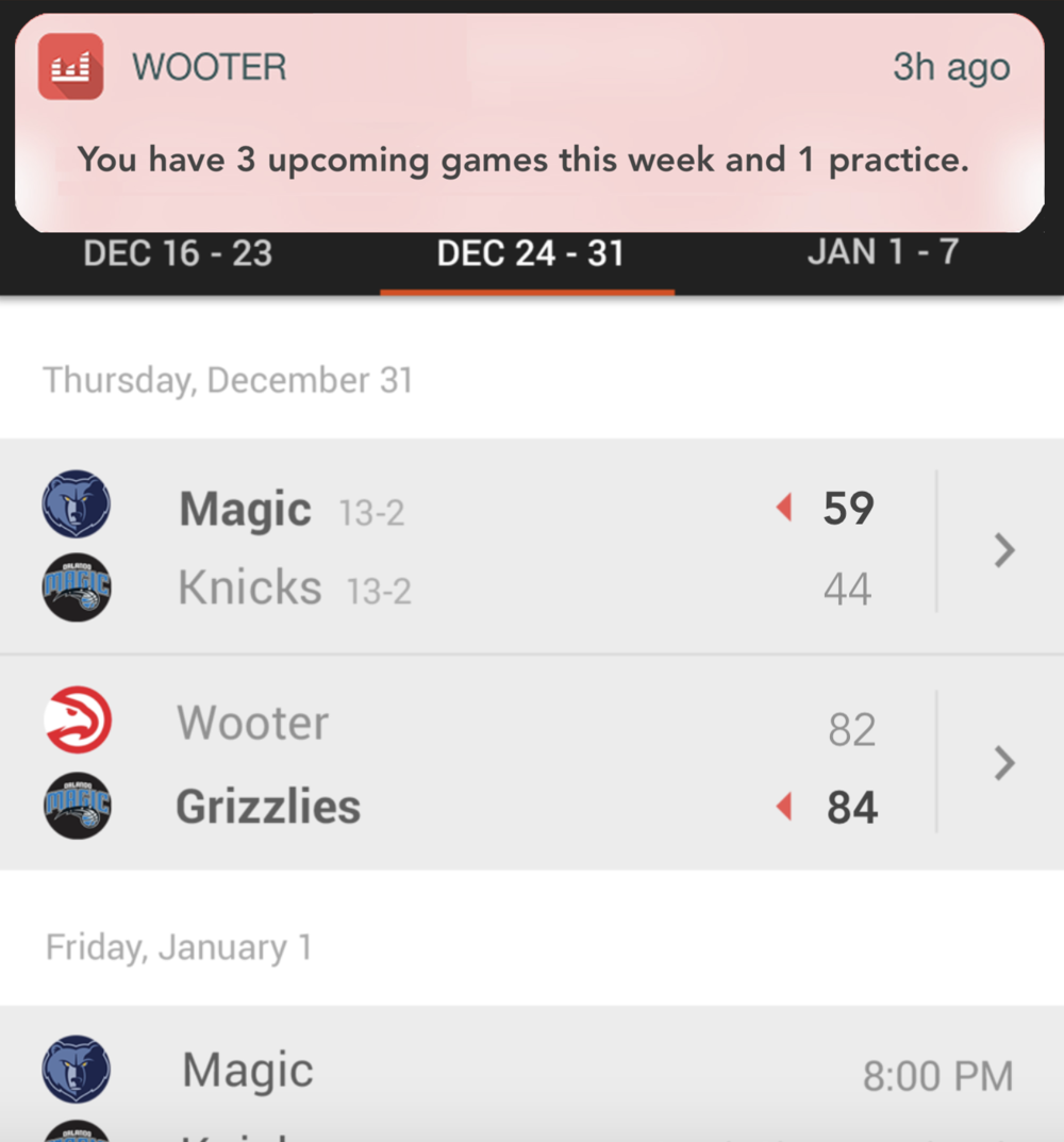 Game & Event Notifications for all sports. Free sports management software.