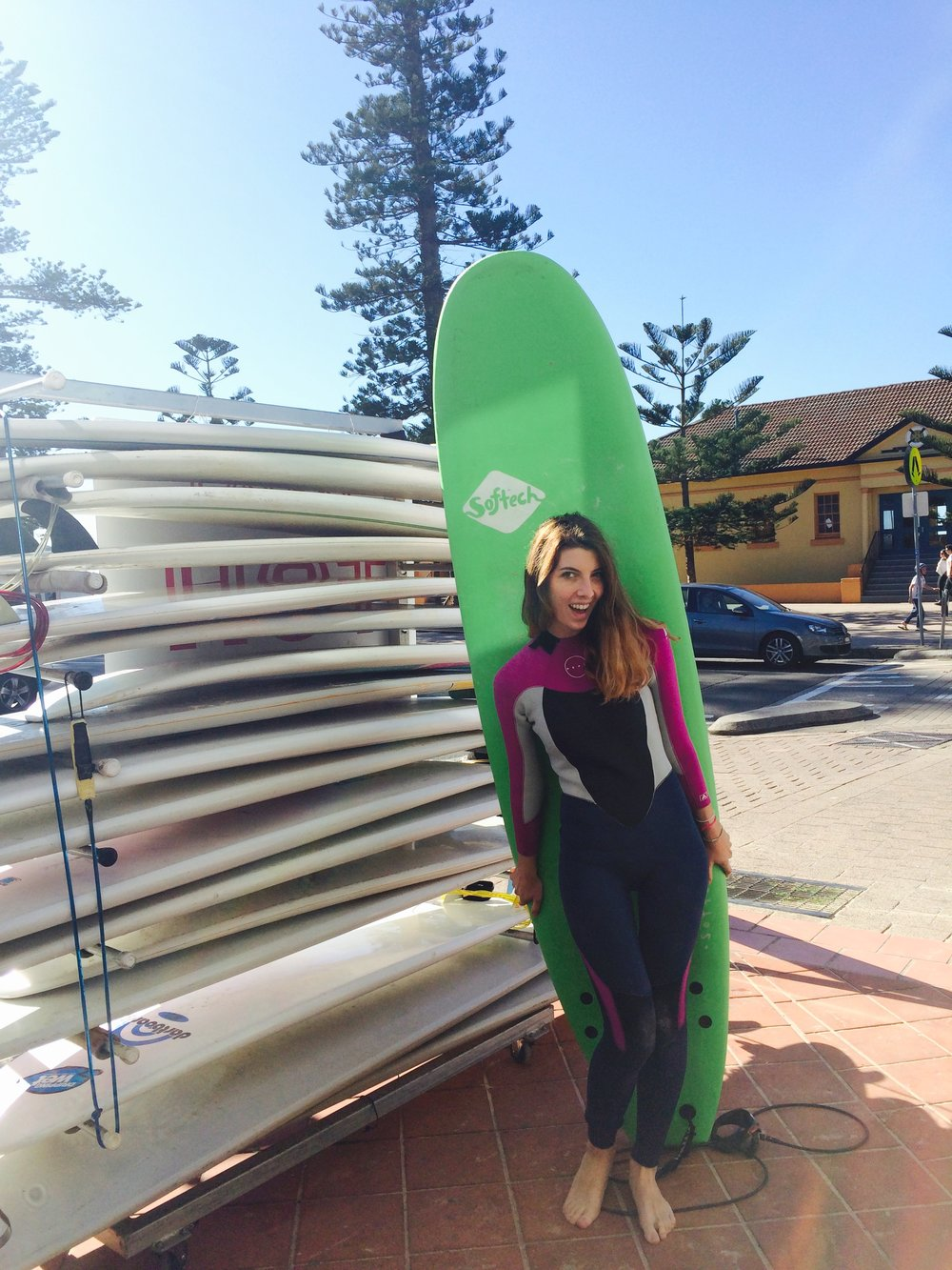 Surfing on a winter day in Manly, I did it!