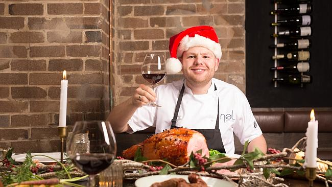 Chef Nelly Robinson and his Christmas in July feast at Nel. in Sydney. Picture: Cole Bennett Source: Sydney Morning Herald