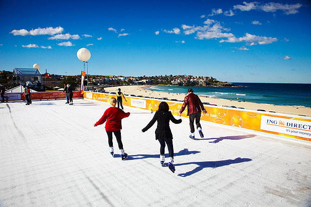 Ice Skating in Bondi - source:  bondi-beach-sydney.com.au
