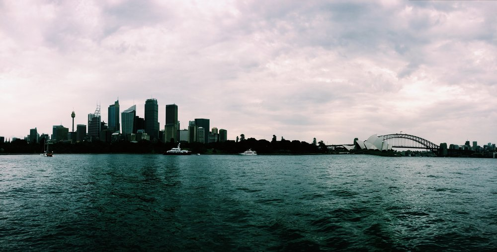 Cloudy day on beautiful Sydney