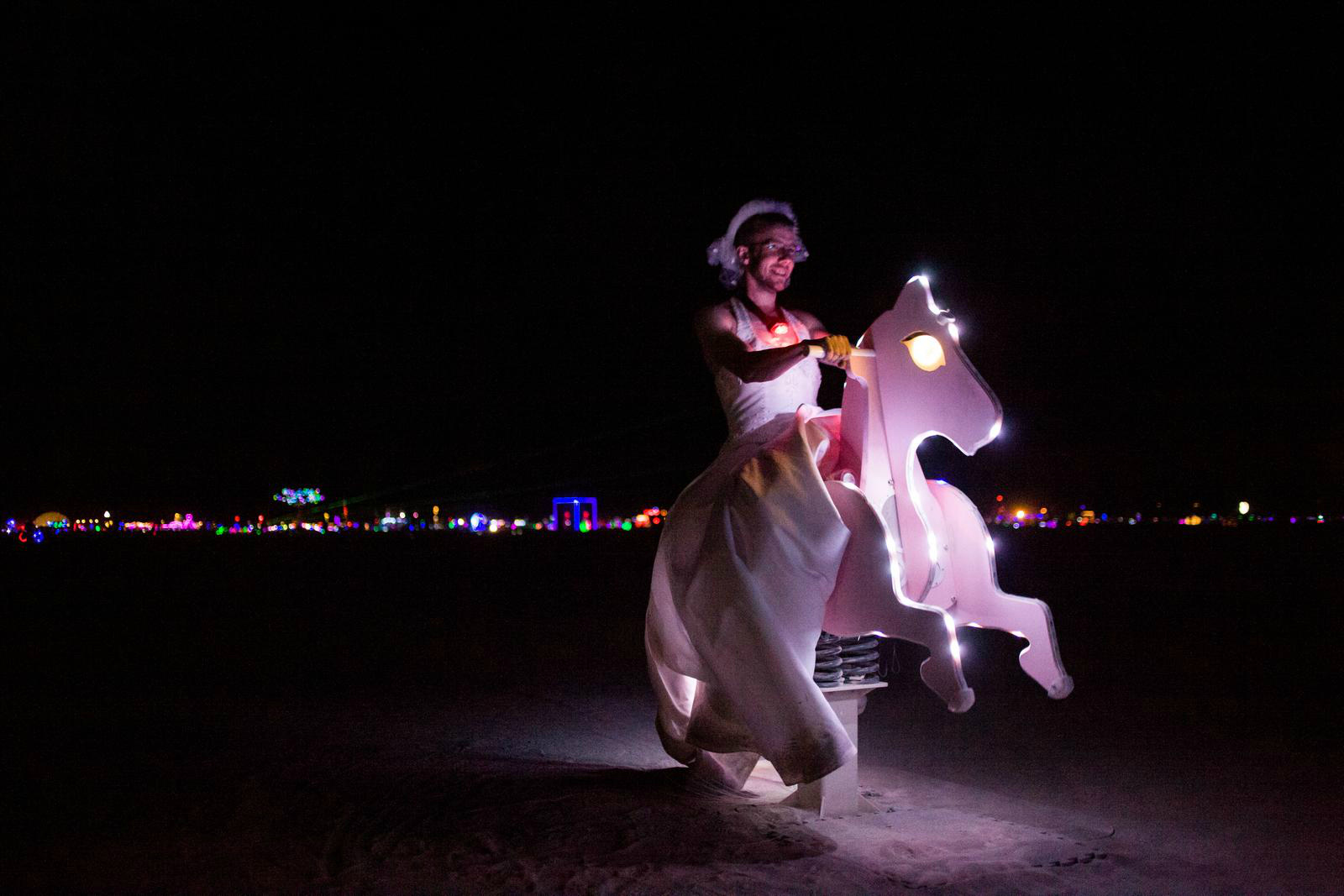 La nuit a Burning Man. Photo: Remi Jaouen