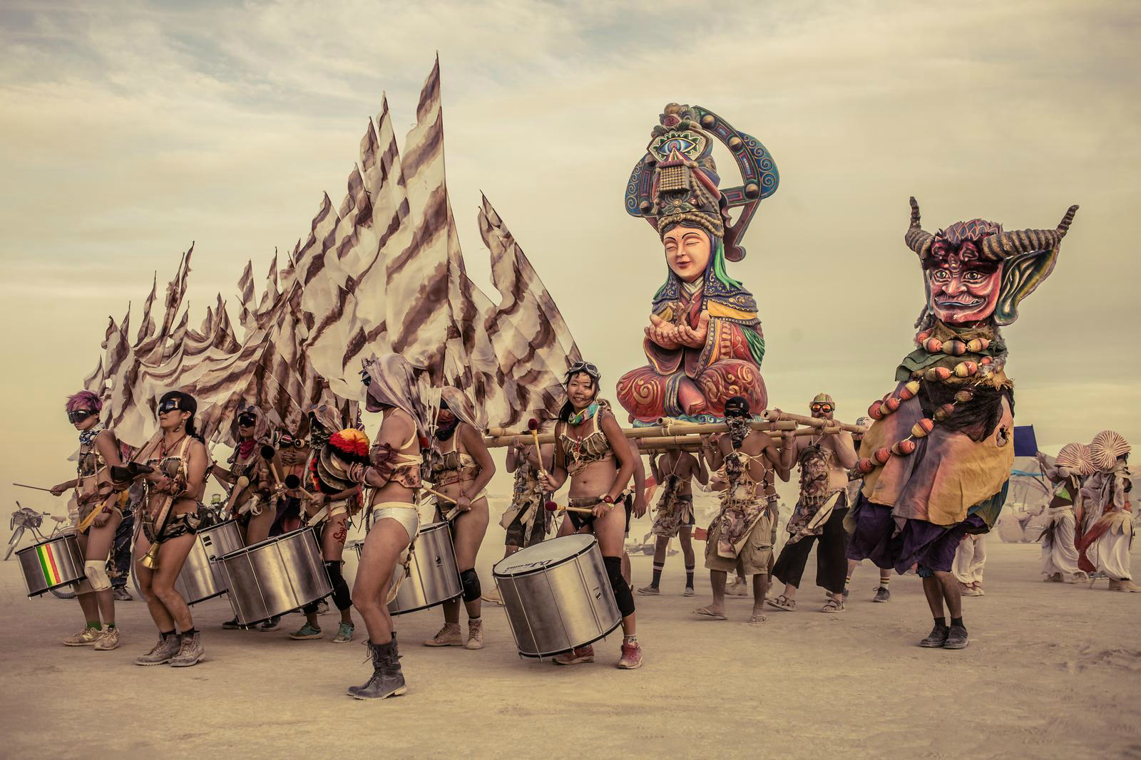 Evenement dans le desert de Black Rock City. Photo: Remi Jaouen