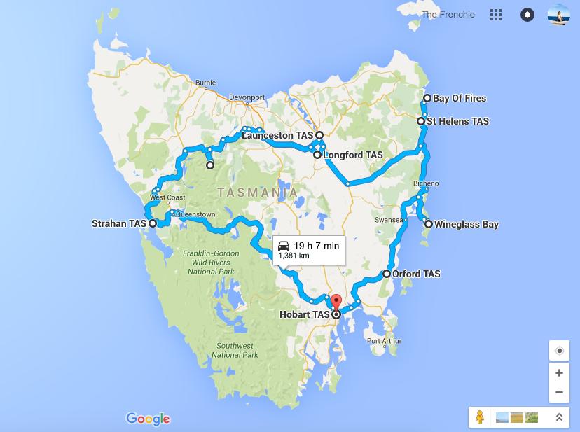 My Tasmanian Itinerary