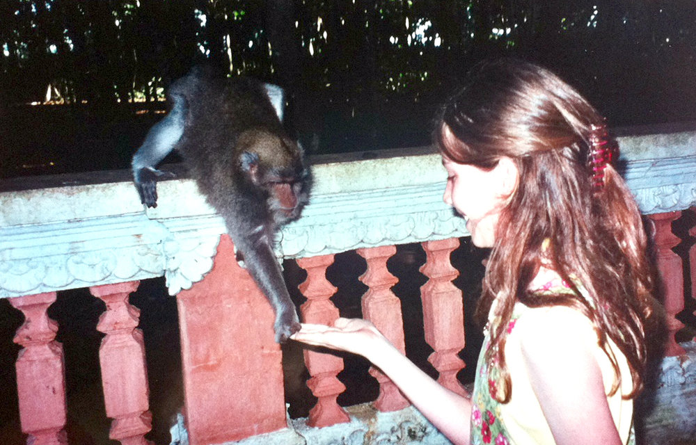 Making a new friend in Bali