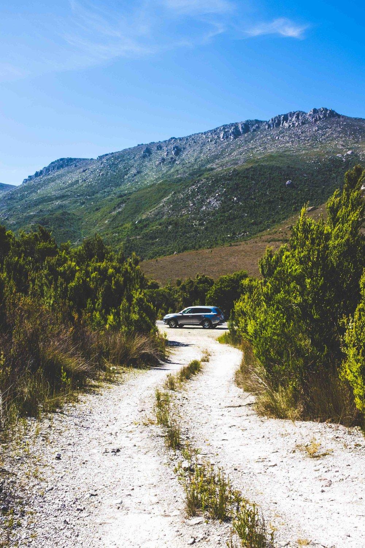 Lots of roads are not paved in Tasmania. Photo: Marine Raynard