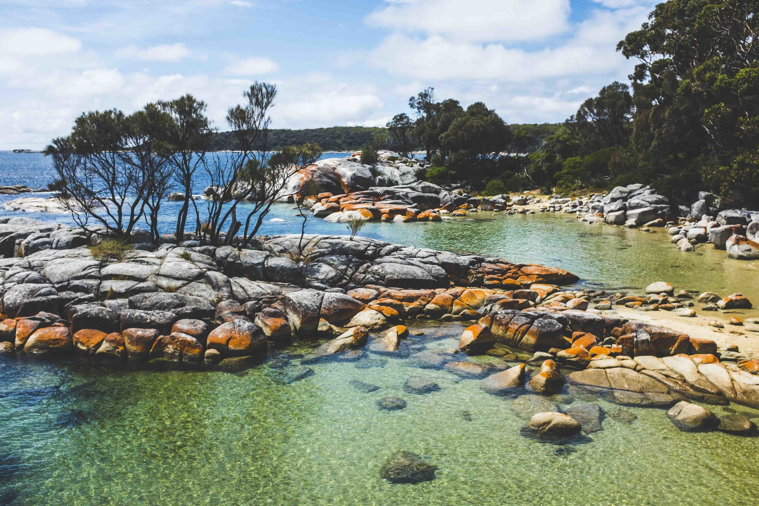 Bay of Fires at Binalong Bay. Photo: Marine Raynard