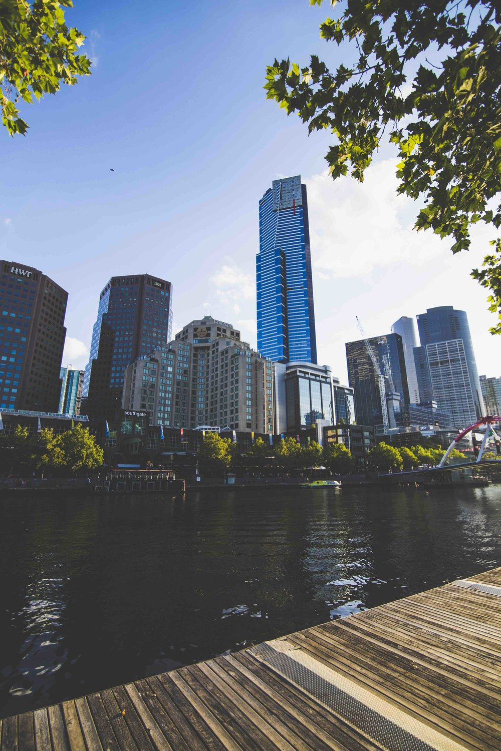 Yarra River's view. Photo: Marine Raynard