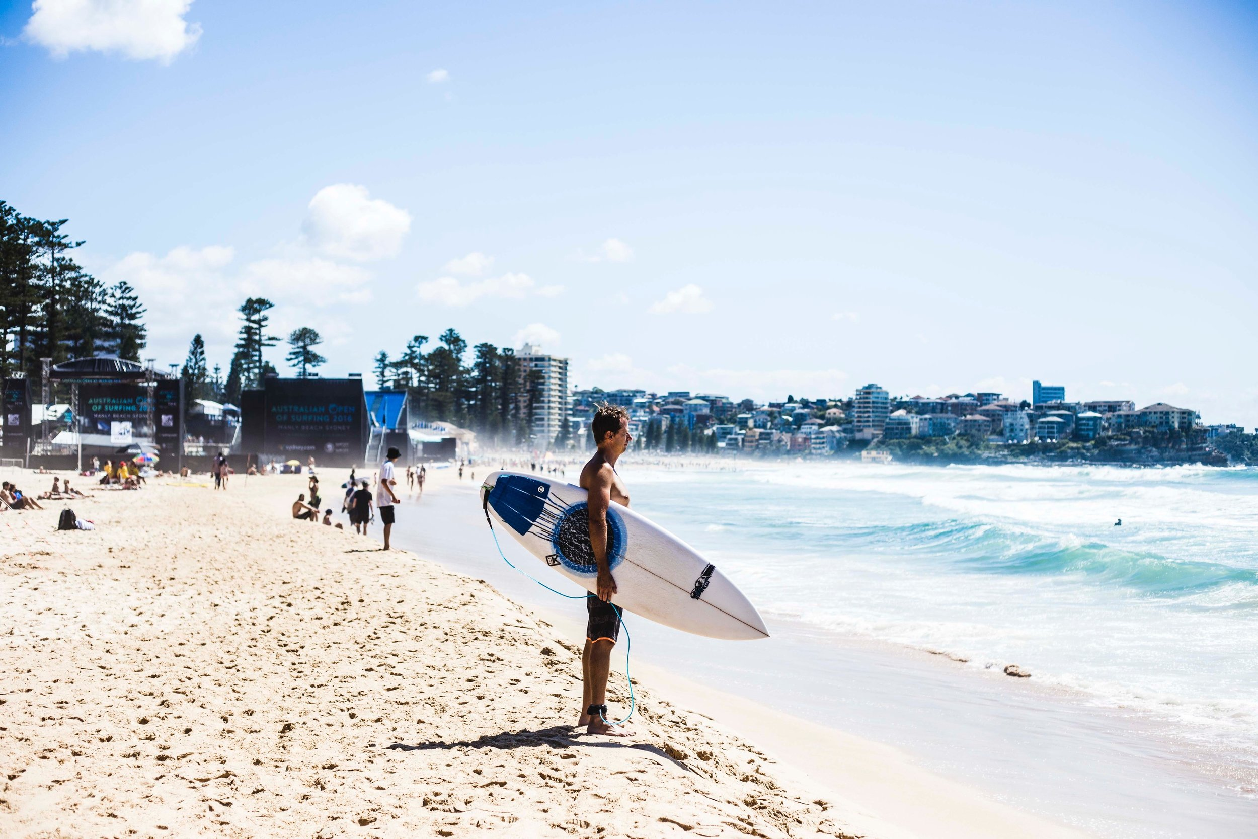 Surfer in Manly Beach. Photo: Marine Raynard