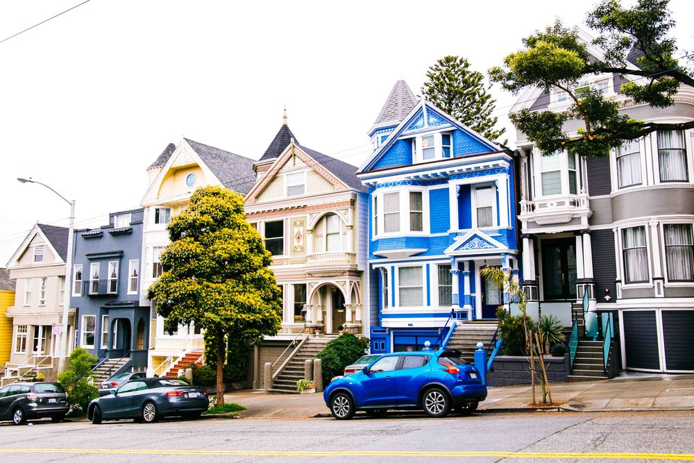 Some colourful houses near Haight-Ashbury in San Francisco. Photo: Marine Raynard