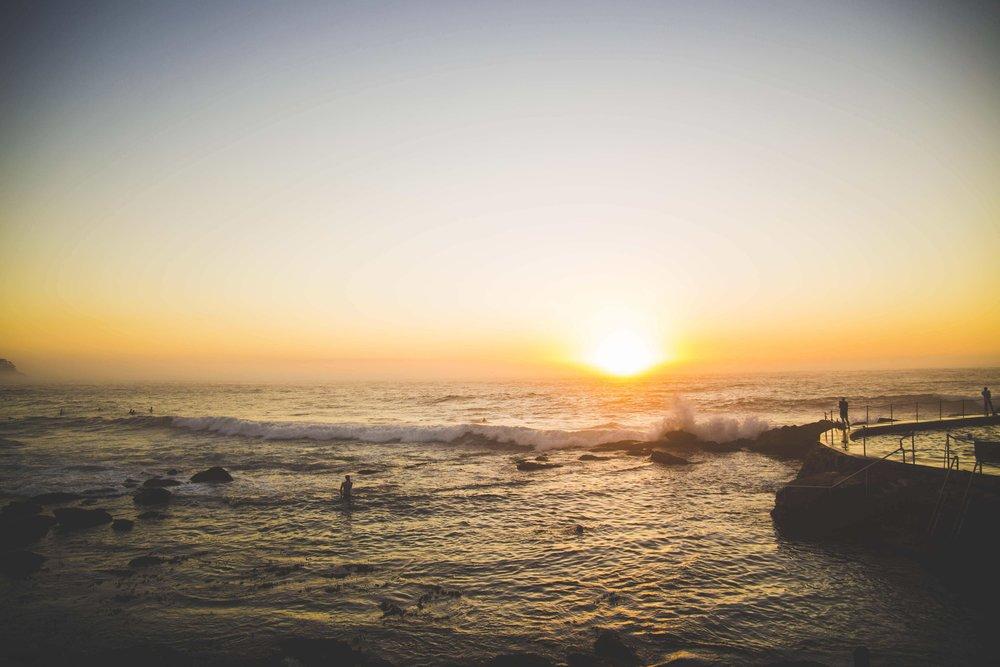 Sunrise on the ocean at Bronte Beach. Photo: Marine Raynard