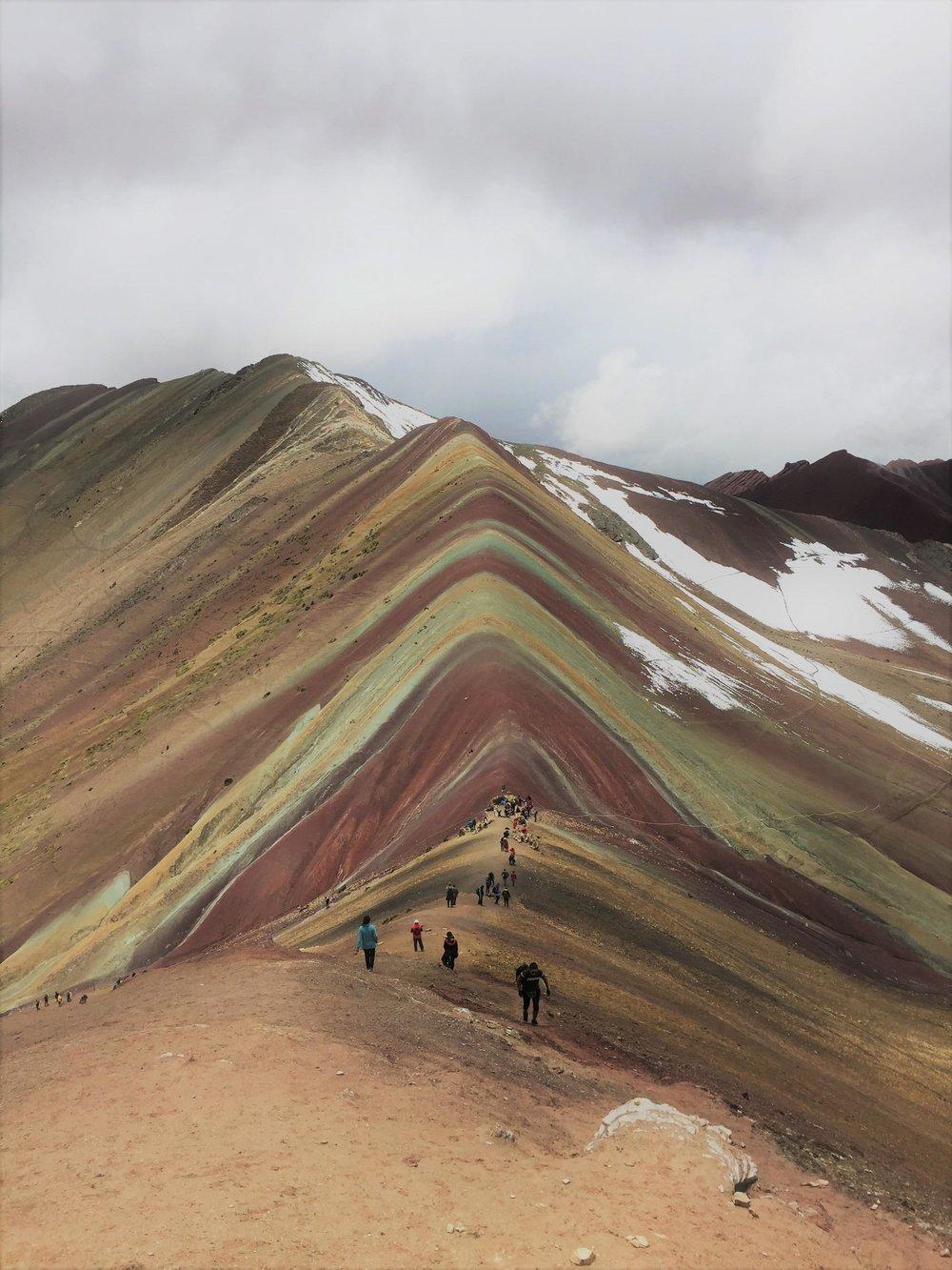 Montagne Vinicunca ou montagne aux 7 couleurs, Perou.