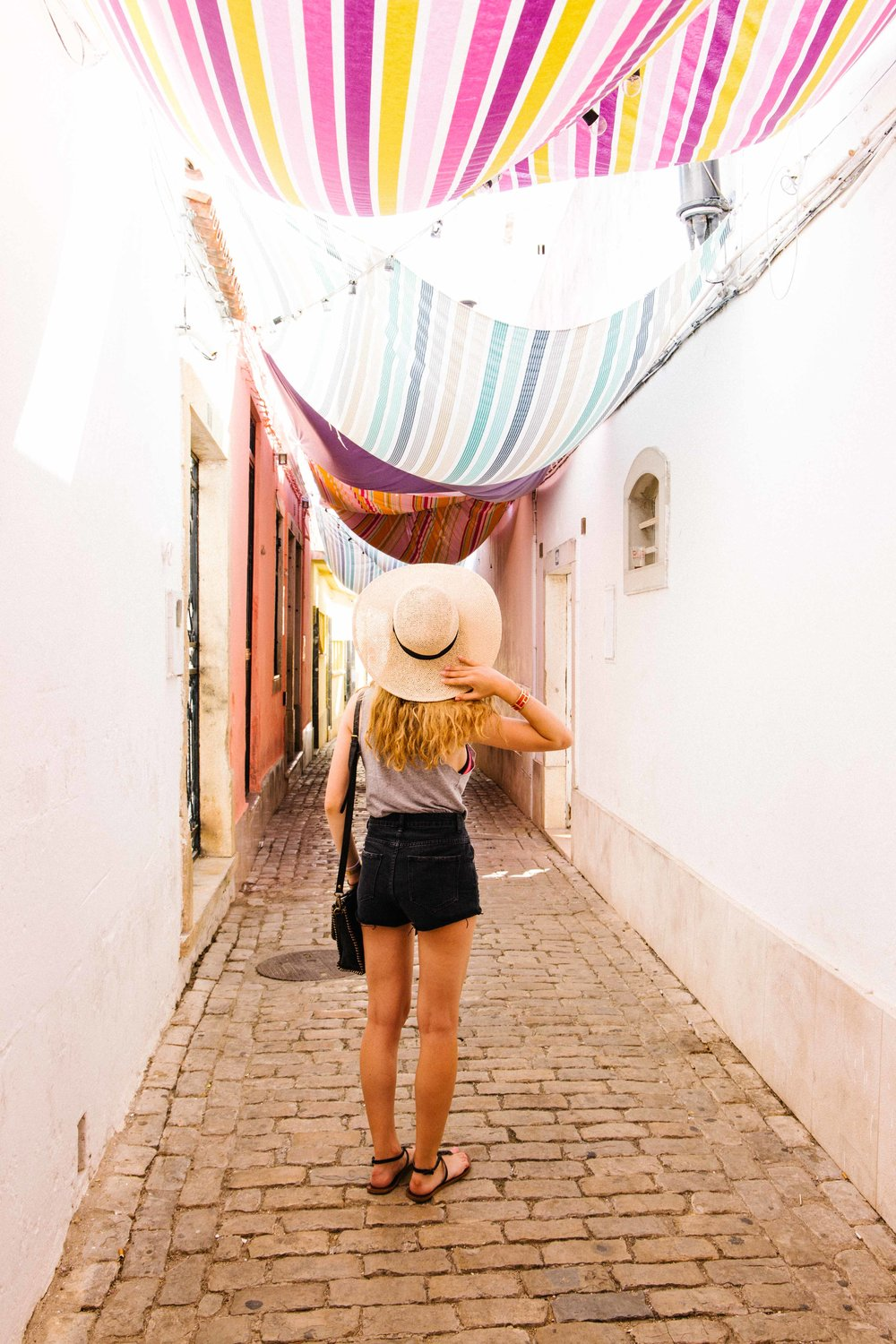 Myself exploring the streets of Loule in Portugal.