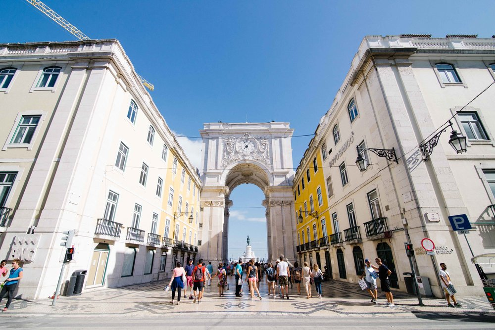 Lisbon streets before the placa de comercao. Photo: Marine Raynard