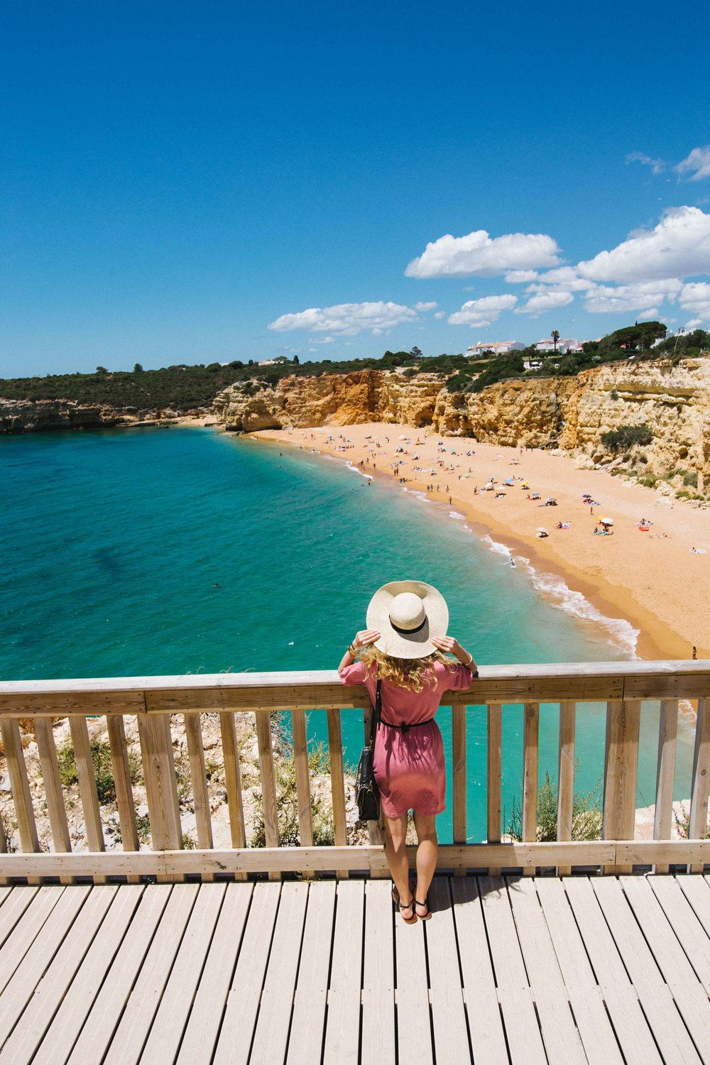 Myself admiring the beautiful beaches of Algarve, Portugal.