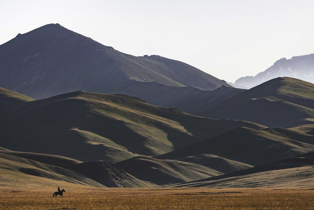 Lone Horseman in Song-Kul. Photo: Kel Morales.