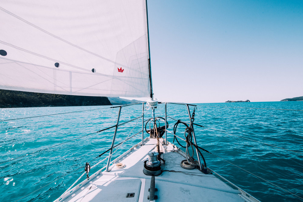 Sailing in the Whitsundays is quite magical. Photo: Marine Raynard.