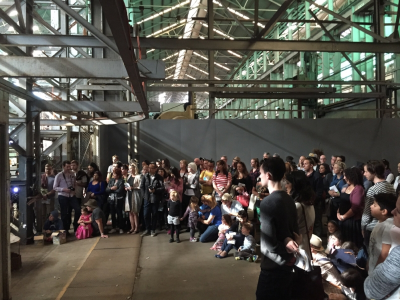 Our audience watching Matt Shillcock and Mel Tyquin during the performance of 'The Likes of Me' for Underbelly Arts Festival Cockatoo Island, Sydney Harbour 2014.