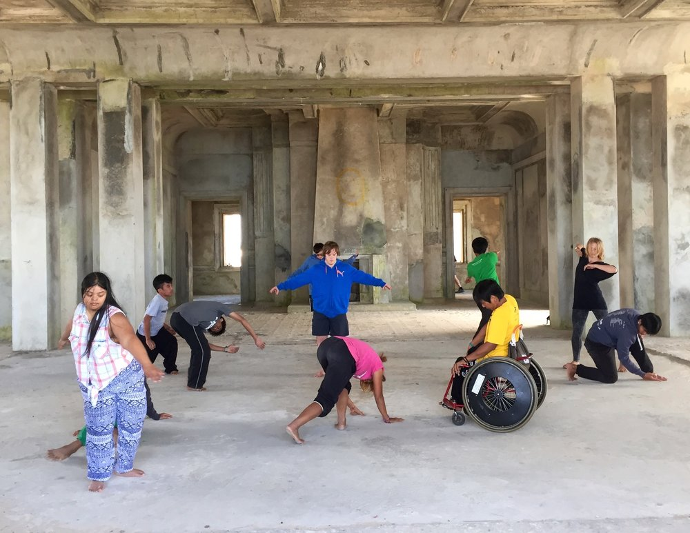 A performance with RUCKUS ensemble and members of EPIC Arts Centre and EPIC Encounters Dance company whilst RUCKUS was in a 2 week residence there in 2016 - Kampot, Cambodia.