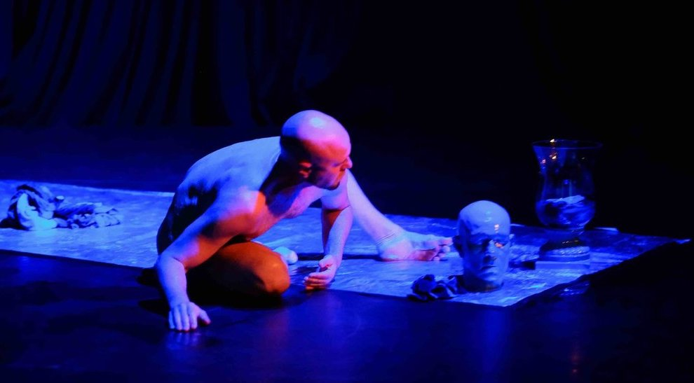 'Dying to Sea' a 20-minute performance commissioned by the annual Festival of Death and Dying, held at Critical Path, the national choreographic research centre, Sydney, April 2016
