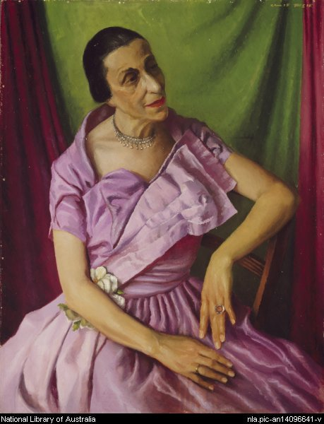 Gertrud Bodenwieser, by Clif Peir, c1950  This portrait sat high and proud in the entrance of Bodenwieser Dance Centre, above the library of some 150 dance history books, reminding us daily of why we were able to be where we were.