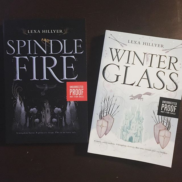 Got the #winterglass #arc today. Sequel to #spindlefire this series is just so pretty. . . . . . #bookstagram #bookblogger #bookish #bibliophile #booknerd #booklover #books #bookaddict #reading #instabook #bookaholic #instabooks #lexahillyer #harperteen