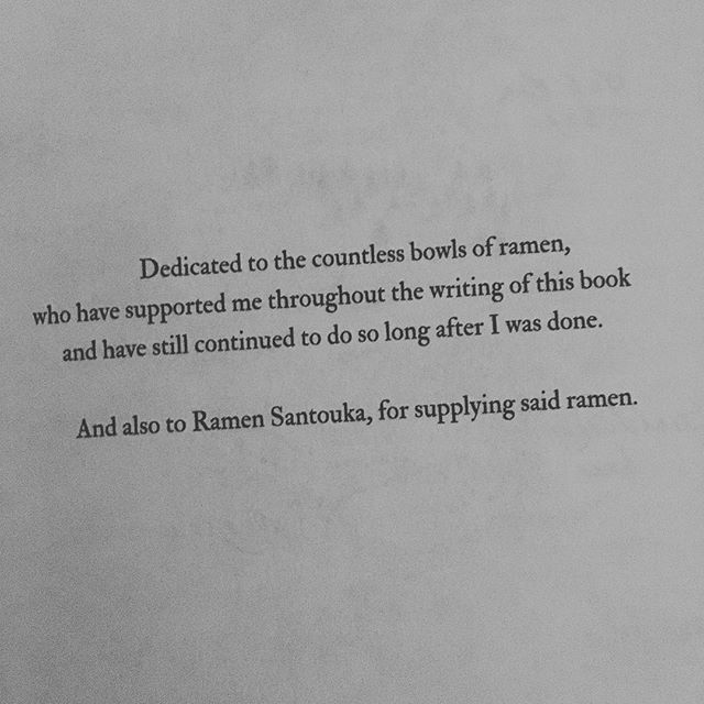 Hell yeah! Dedicated to ramen 🍜❤️ . . . . . #bookstagram #bookblogger #bookish #bibliophile #booknerd #booklover #books #bookaddict #reading #instabook #bookaholic #instabooks #thebonewitch #rinchupeco #bookdedication #ramen #ramensantouka