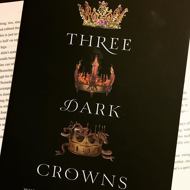 I've been in kind of a reading slump lately. Just can't seem to concentrate no matter what I read. But, I think #threedarkcrowns is going to get me out of it. Fingers crossed 👸🏻👸🏻👸🏻 . . . . . #bookstagram #bookblogger #bookish #bibliophile #booknerd #booklover #books #bookaddict #reading #instabook #bookaholic #instabooks #kendareblake