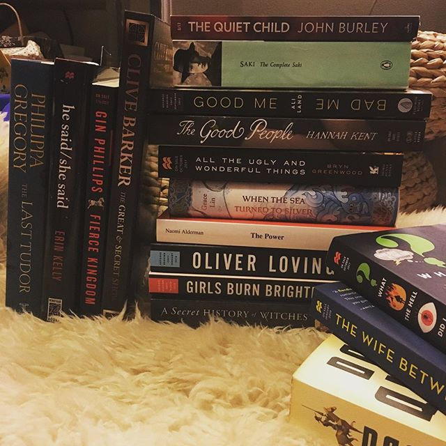 I think I'm set with books for a bit after this week.... #yeahright . . . . . #bookstagram #bookblogger #bookish #bibliophile #booknerd #booklover #books #bookaddict #reading #instabook #bookaholic #instabooks #bookseller #arc #advancedreaderscopy #bookhaul