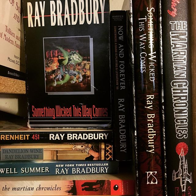 Happy birthday #raybradbury and thank you for writing some of my all time favorite books . . . . . #bookstagram #bookblogger #bookish #bibliophile #booknerd #booklover #books #bookaddict #reading #instabook #bookaholic #instabooks #somethingwickedthiswaycomes #martianchronicles #fahrenheit451