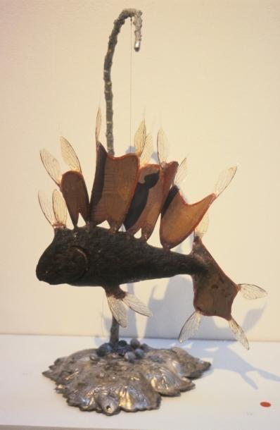 Fiship, 2007, mixed media, 32 x 55 x 32 cm
