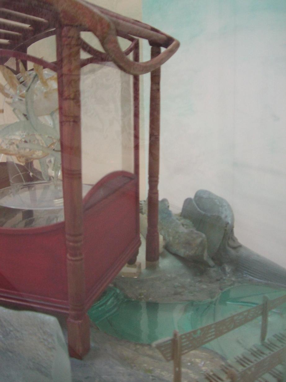 Zheng He's Memorial Garden (detail left centre), 2005-07, mixed media, 56 x 155 x 47 cm