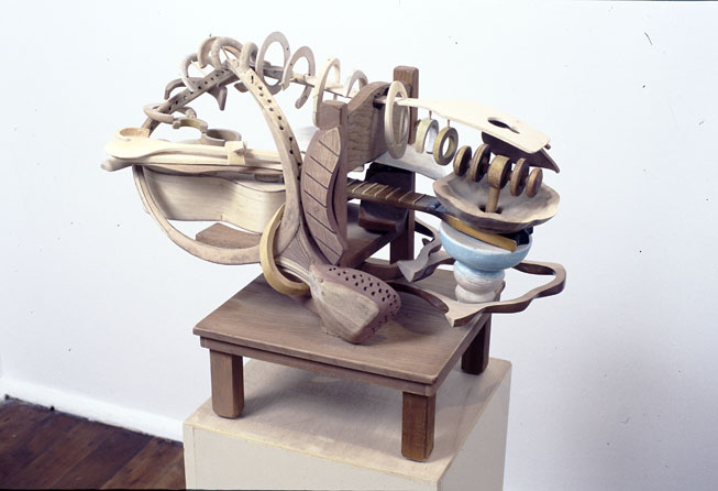 Braque's Kitchen, 1999, wood, bamboo and pigment, 44 x 54 x 28 cm