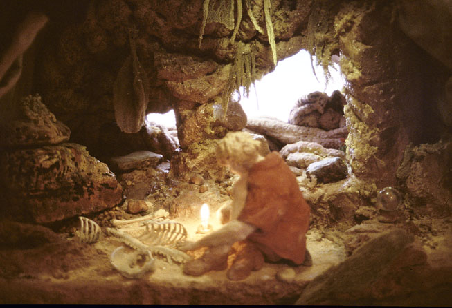 Leonardo's Cave, 2004, back-lit colour transparency, 35 x 59 cm