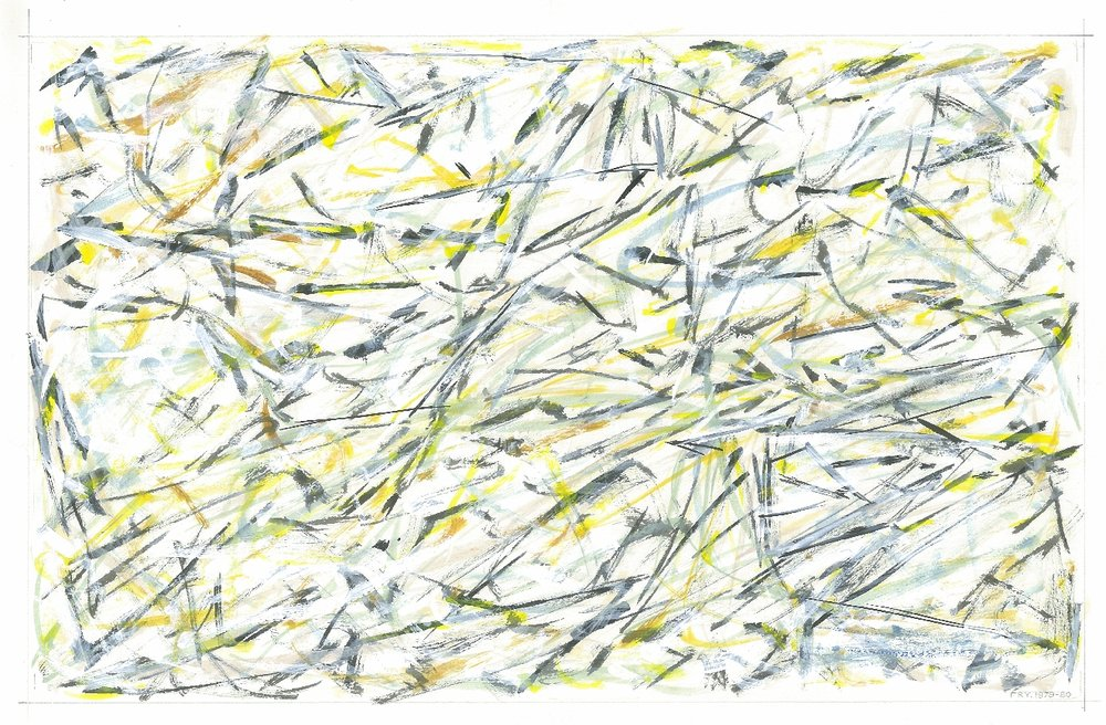 Drawing 4, 1979-80, ink and acrylic on paper, 21 x 33 cm