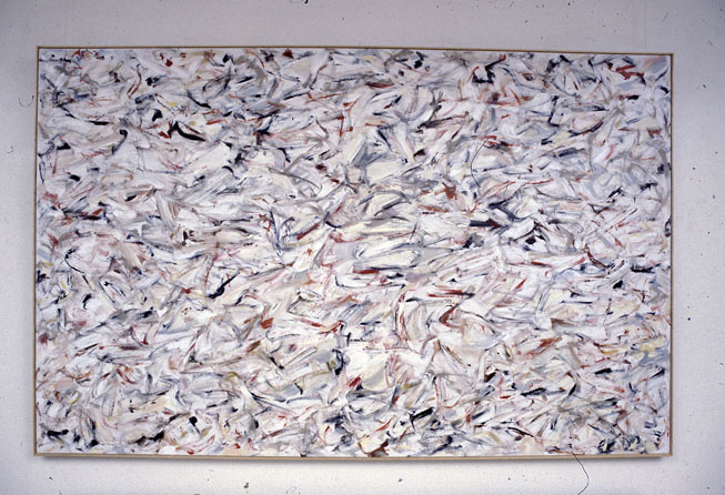 Coup, 1980, oil on gessoed cotton duck, 127 x 199 cm