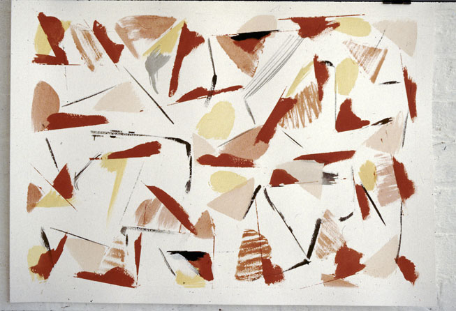 Watercolour, 1981, watercolour and graphite on paper, 60 x 75 cm