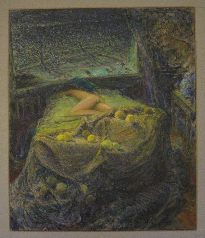 Sun Stroke, 1998-2000, synthetic resin on linen, 144 x 172 cm