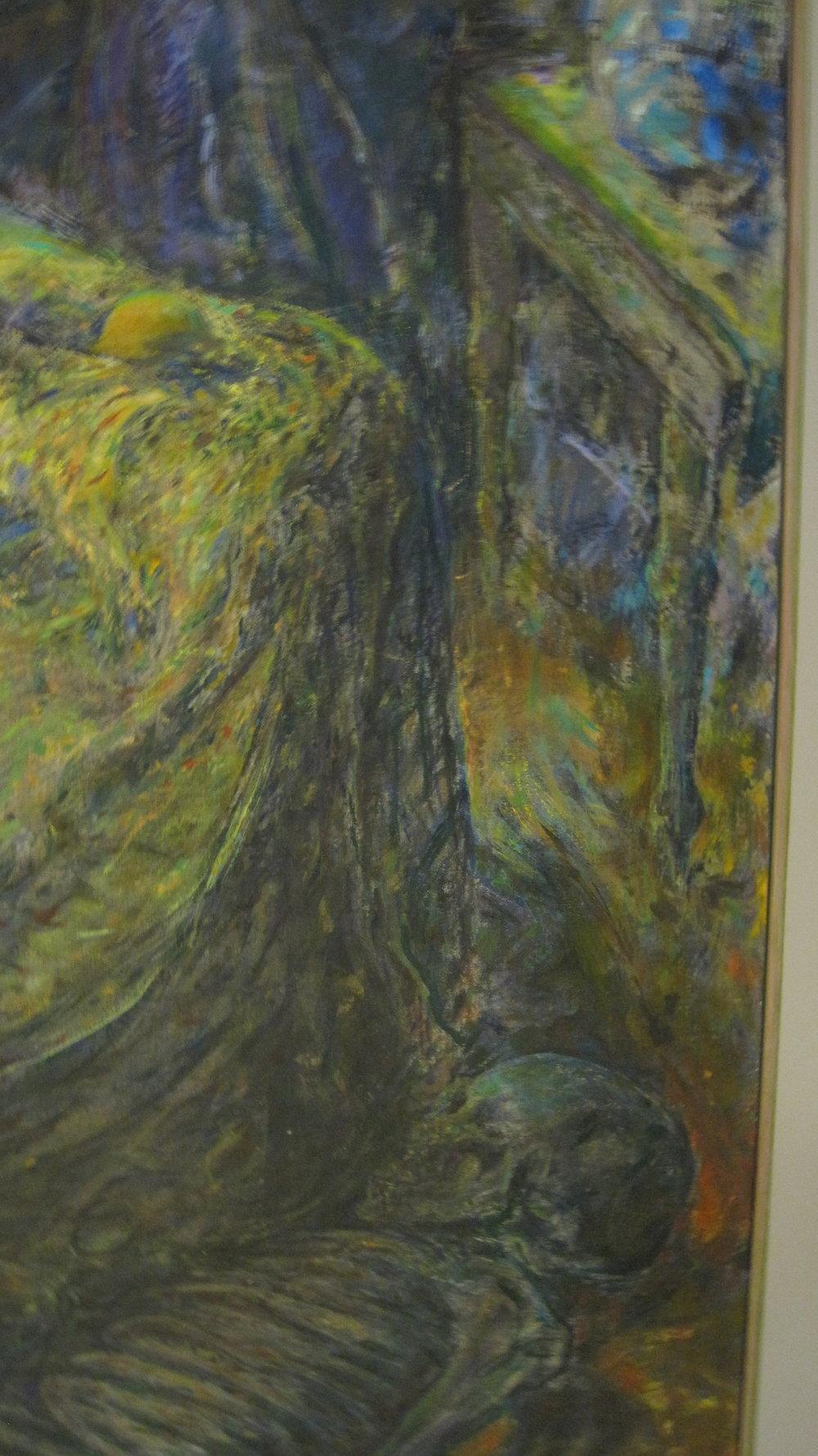 Sun Stroke (detail lower right), 1998-2000, synthetic resin on linen, 144 x 172 cm