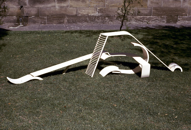 Construction, 1972, painted wood, 60 x 300 x 80cm
