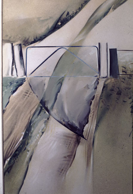 Gate Arc, 1976, acrylic on Particle Board, 139 x 93 cm