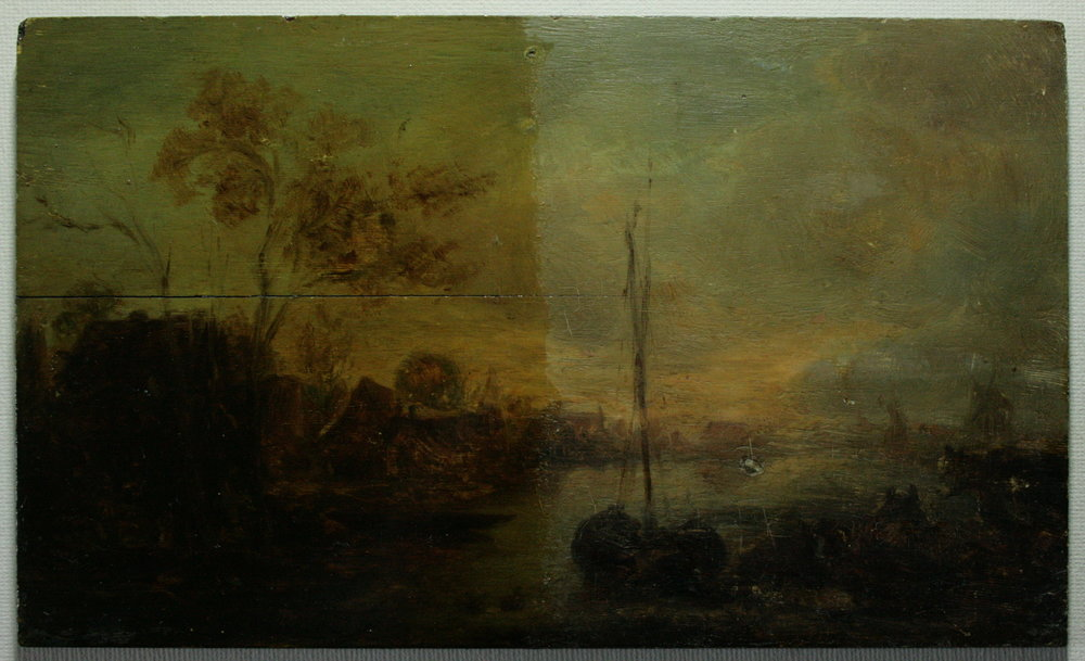 """""""Paysage au bord de l'eau"""" - Jan Josephsz Van Goyen (XVIIe)"""