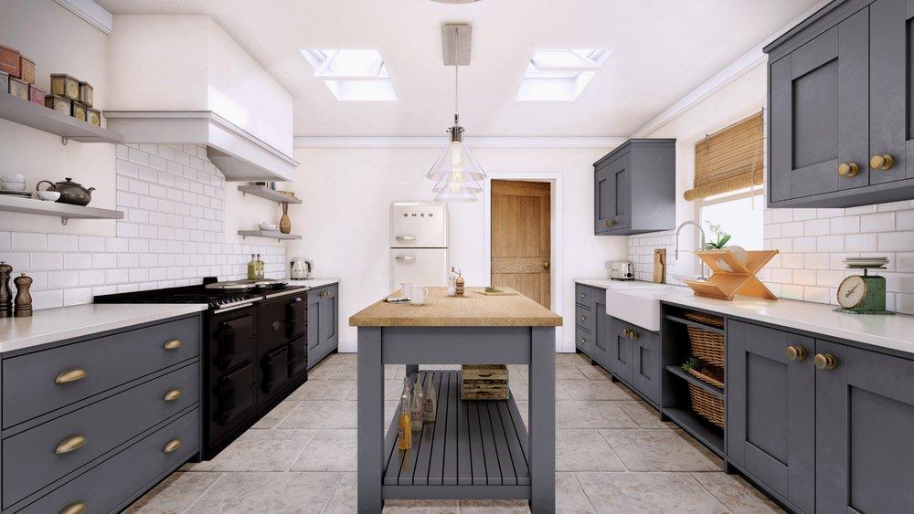 Interior CGI - Farm House Kitchen