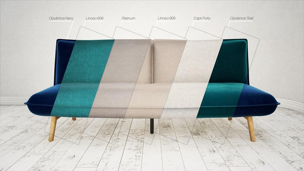 CGI Furniture Render | Kyoto Sofa Bed - Material Range