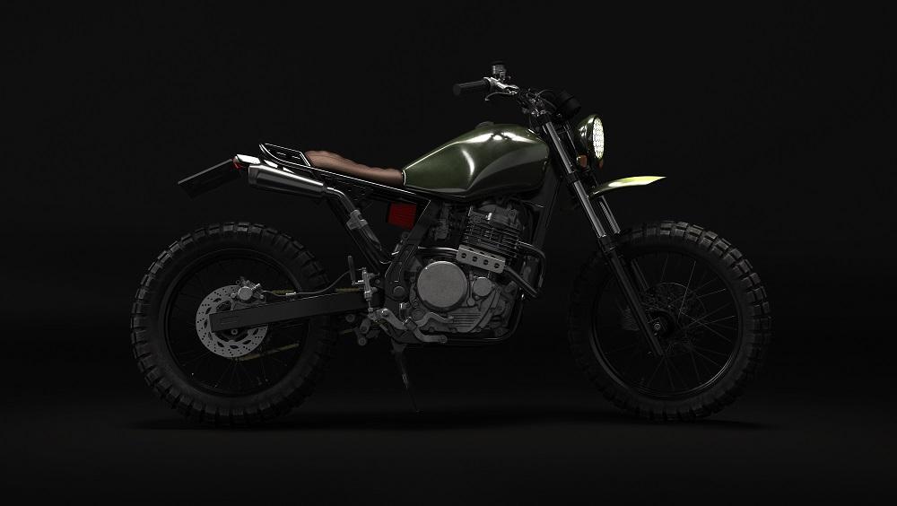 Fractal CG , CGI Visualisation, 3D Render, Automotive, Tracker Motor Bike