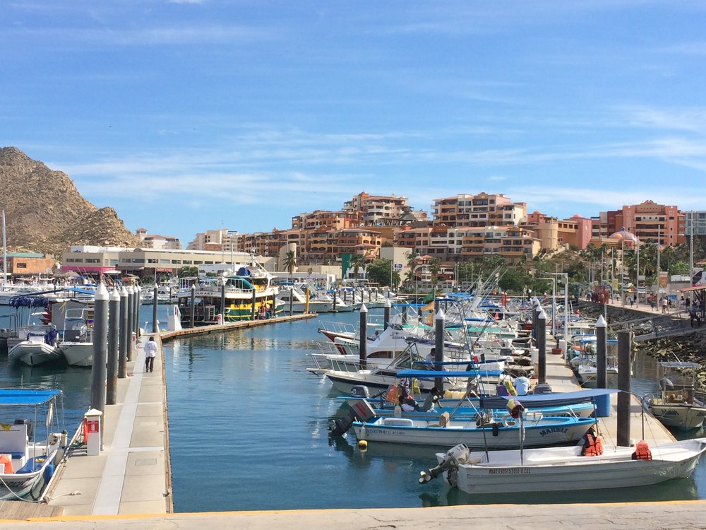 The Marina, with our resort in the distance