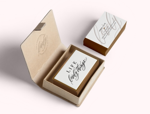 Life and Lovely Things Business Cards by DoodleDog