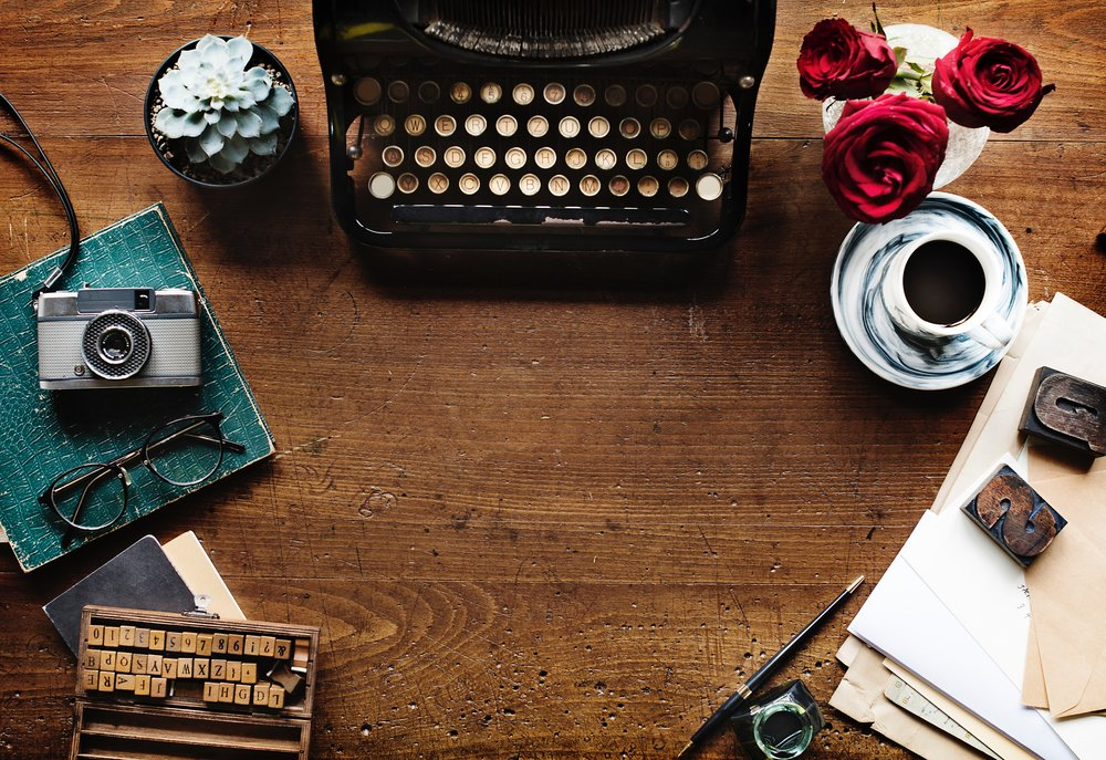 Typewriter and other communication tools by Rawpixel