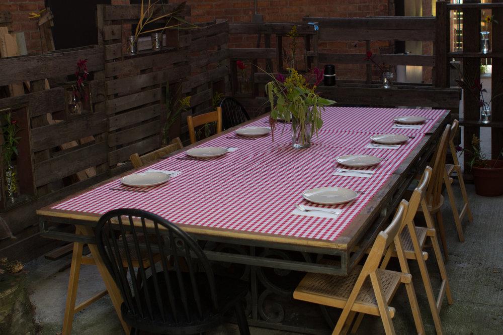 a rustic tablescape